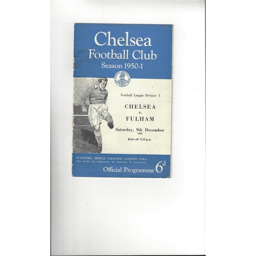 1950/51 Chelsea v Fulham Football Programme