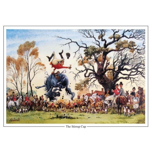 """Thelwell """"The Stirrup Cup"""" Greeting Card"""