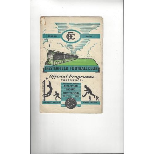 1956/57 Chesterfield v Darlington Football Programme
