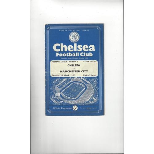 1955/56 Chelsea v Manchester United Football Programme