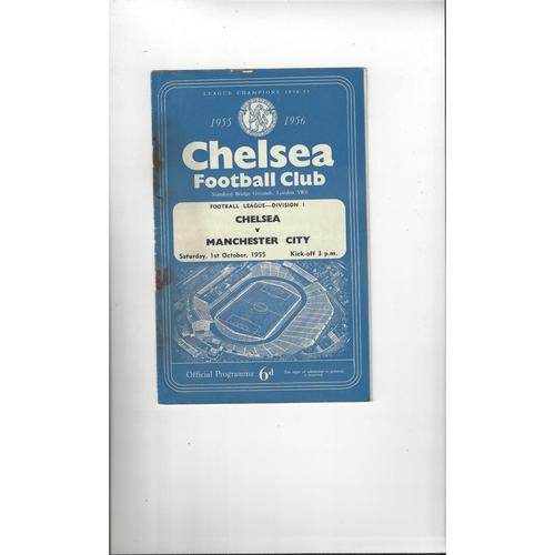 1955/56 Chelsea v Manchester City Football Programme