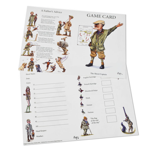 10 Shoot Game Cards - The Shoot Captain by Bryn Parry