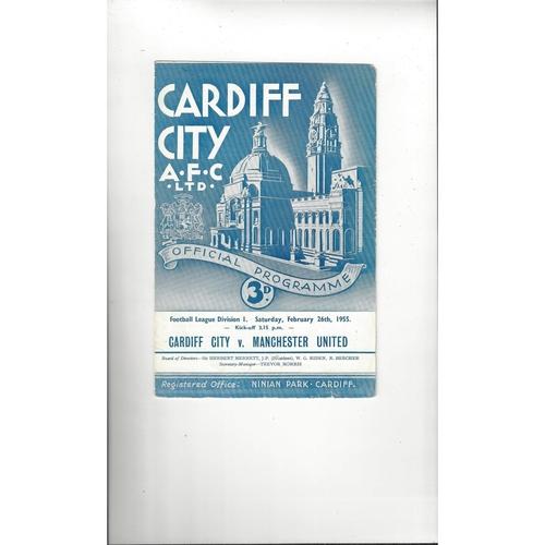 Cardiff City Home Football Programmes