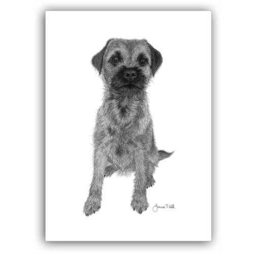 Joanne T Kell Border Terrier Greeting Card