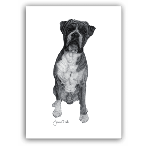 Joanne T Kell Boxer Greeting Card