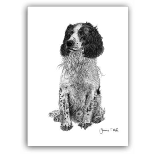 Joanne T Kell English Springer Spaniel Greeting Card