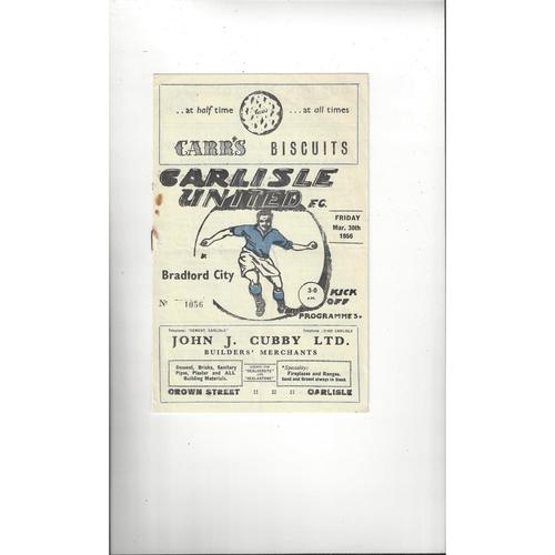 Carlisle United Home Football Programmes