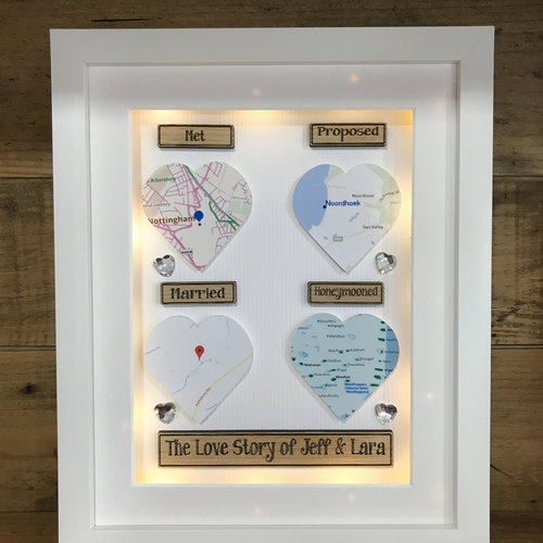 "LED "" love story maps """