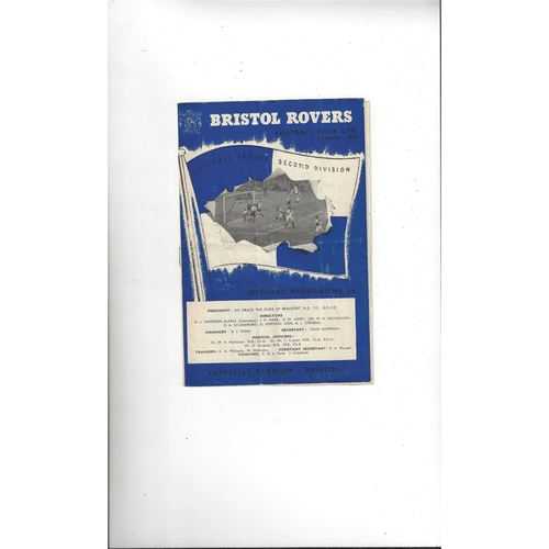 1957/58 Bristol Rovers v Doncaster Rovers Football Programme