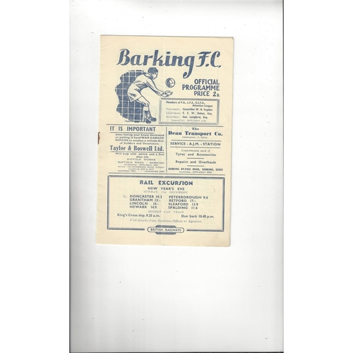 1950/51 Barking v Erith & Belvedere London Senior Cup Football Programme