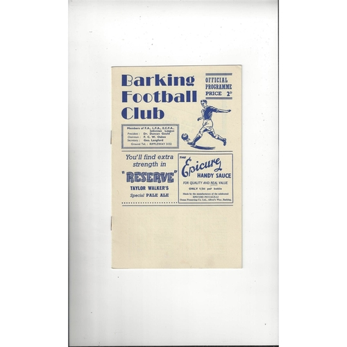 1954/55 Barking v March Town East Anglian Cup Final Football Programme
