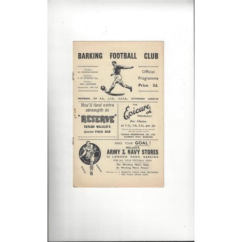 Barking Home Football Programmes