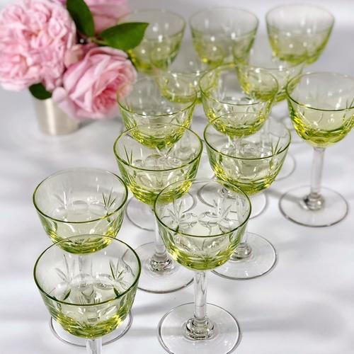 13 unusual Uranium Vaseline glasses