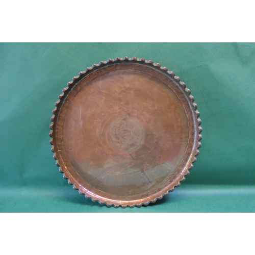 Persian Qajar Copper Serving Tray Sharing Platter Dish - £1,600