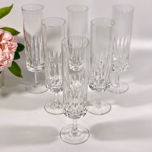 French crystal champagne flutes 1960s