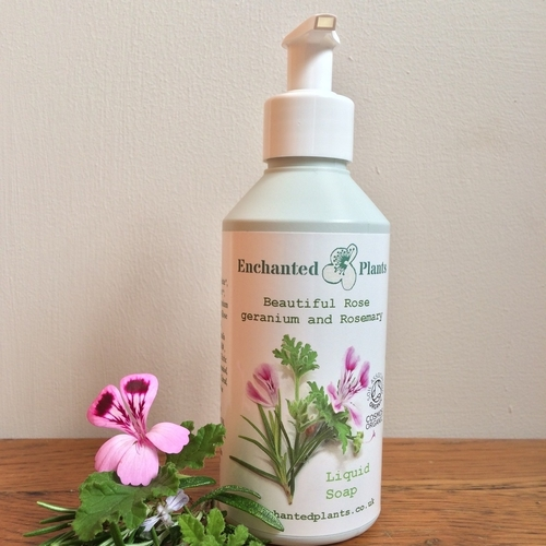 Rose geranium and Rosemary Liquid Soap