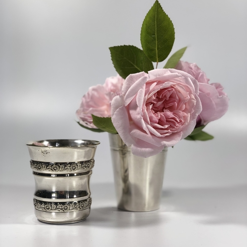 French silver plated posy holders