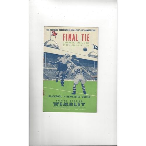 1951 Blackpool v Newcastle United FA Cup Final Football Programme