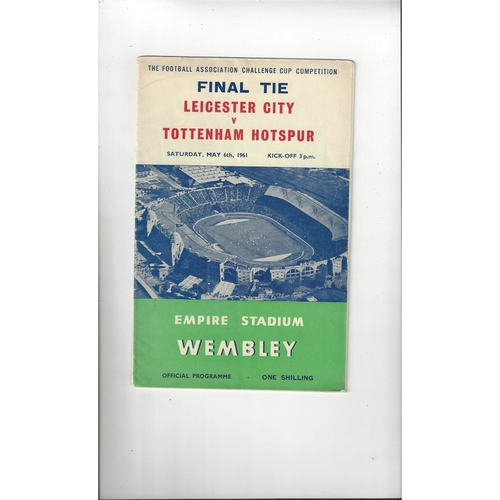 1961 Leicester City v Tottenham Hotspur FA Cup Final Football Programme