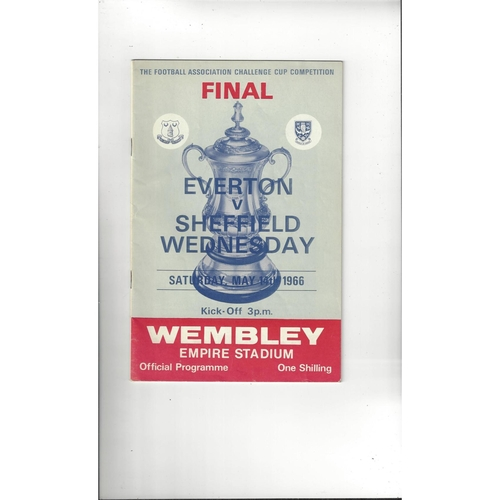 1966 Everton v Sheffield Wednesday FA Cup Final Football Programme