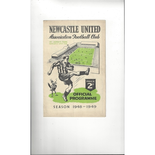 1948/49 Newcastle United v Manchester City Football Programme