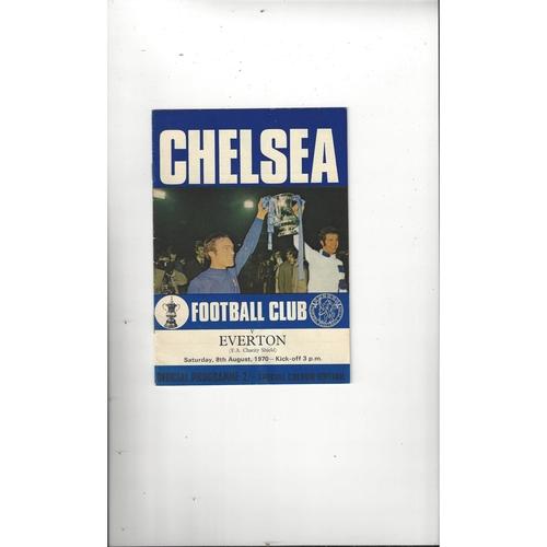 1970 Chelsea v Everton Charity Shield Football Programme