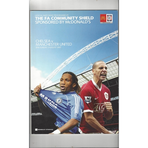 2007 Chelsea v Manchester United Charity Shield Football Programme