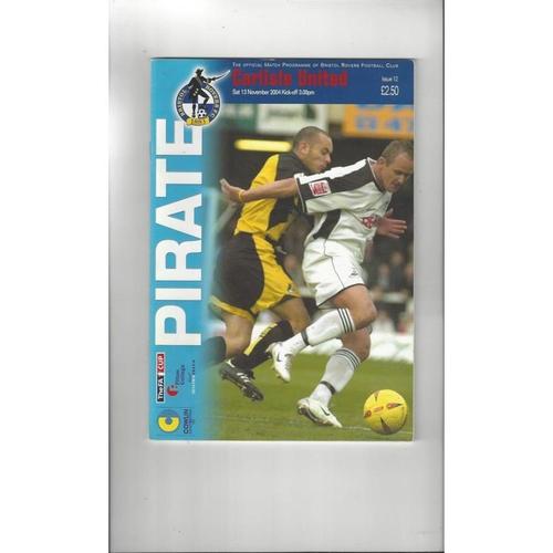 Bristol Rovers v Carlisle United FA Cup Football Programme 2004/05