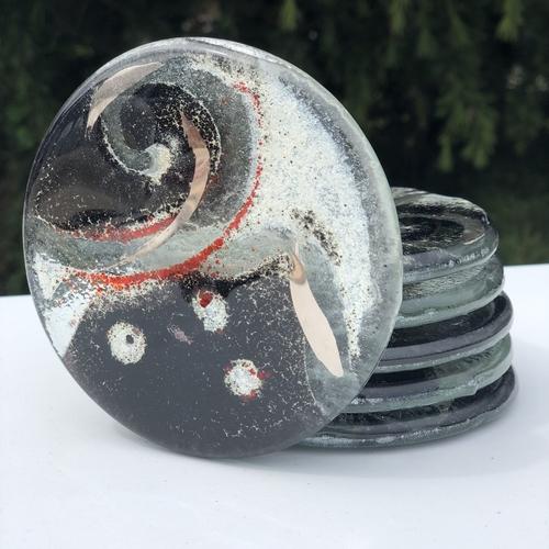 Metro Glass Coasters (Round)