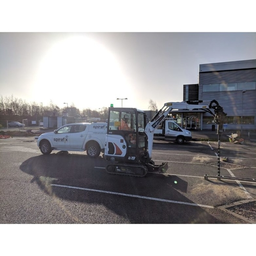 Solar Carport Foundation