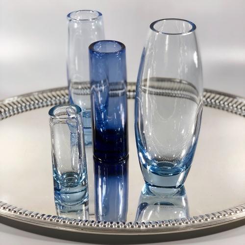 Signed Holmegaard vases by Per Lutken