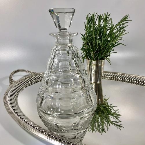 Val St Lambert Art Deco crystal decanter