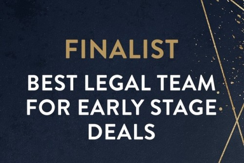 Greenaway Scott has been selected as a Finalist in the Best Legal Team for Early Stage Deals Angel Investment Awards