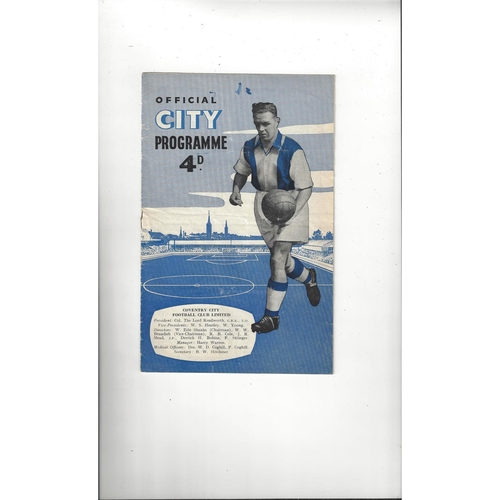 1956/57 Coventry City v Northampton Town Football Programme