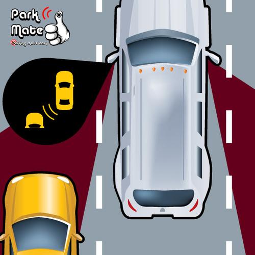 Blind Spot Lane Change Monitoring Detection System Park Mate PM50