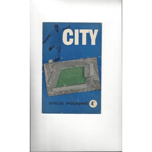 1959/60 Coventry City v Bradford City Football Programme