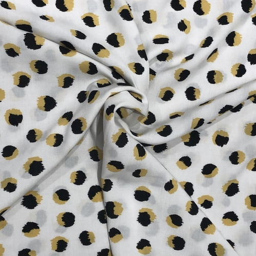 Fluffy Spots Viscose 1.8m Remnant