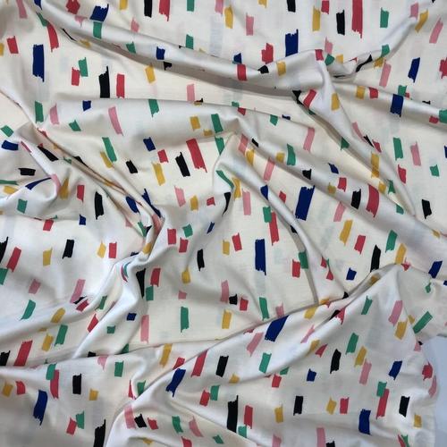 Brushstrokes Cream Jersey