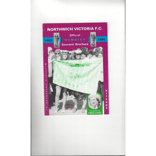 1984 Northwich Victoria Trophy Final Football Brochure