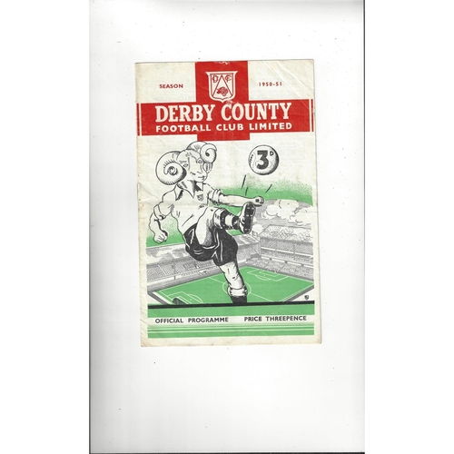 1950/51 Derby County v Manchester United Football Programme