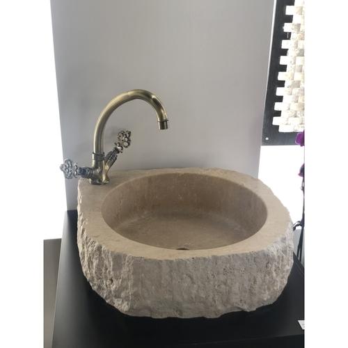 Travertine Stone Sink - Round