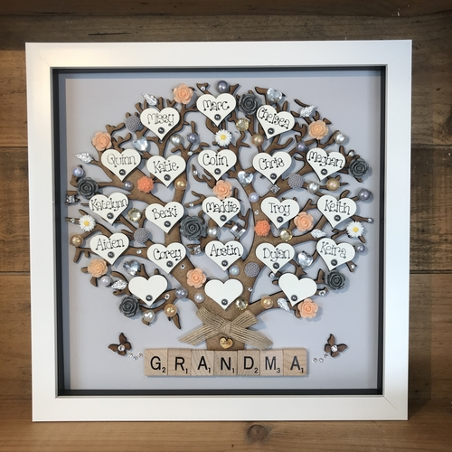 """Extra large """" Floral family tree frame """""""