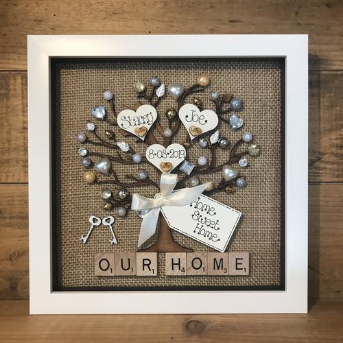 """ New Home "" family tree frame"