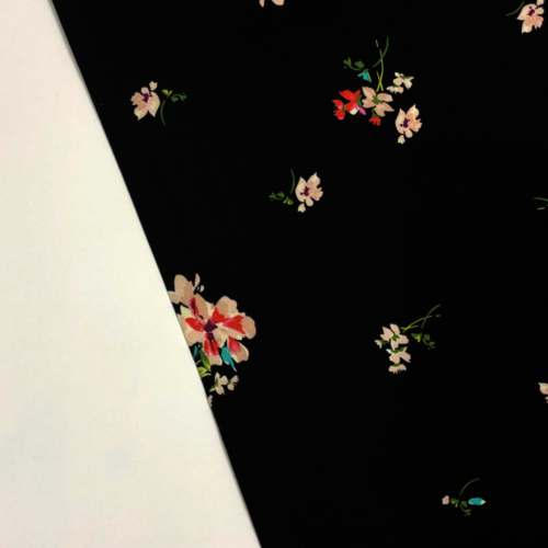 Romance Floral Black Viscose