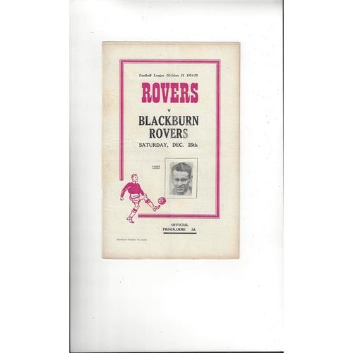 1954/55 Doncaster Rovers v Blackburn Rovers Football Programme