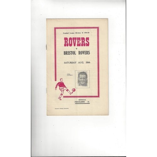 1954/55 Doncaster Rovers v Bristol Rovers Football Programme