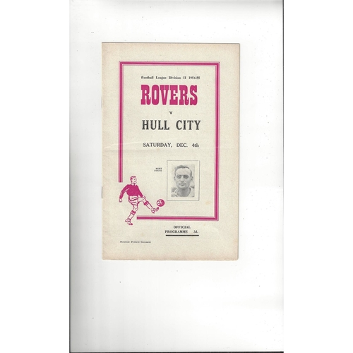 1954/55 Doncaster Rovers v Hull City Football Programme