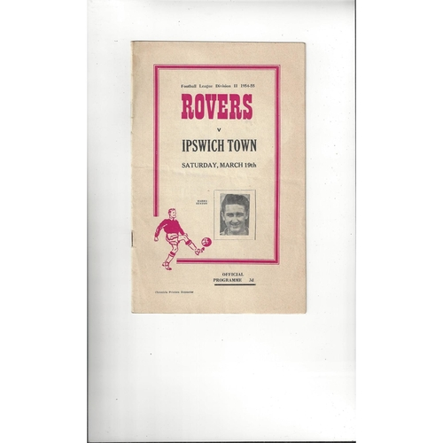 1954/55 Doncaster Rovers v Ipswich Town Football Programme