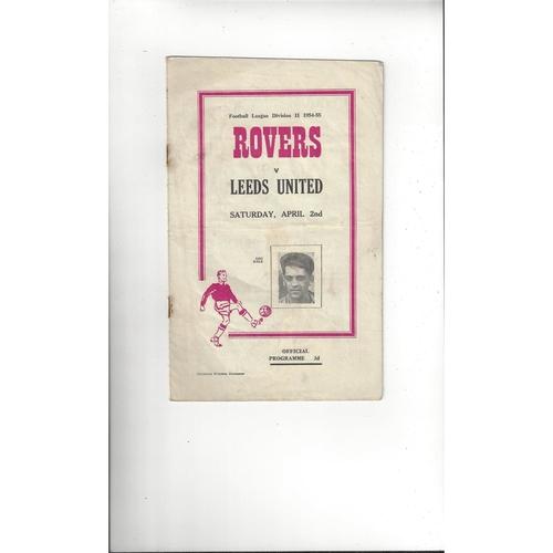 1954/55 Doncaster Rovers v Leeds United Football Programme