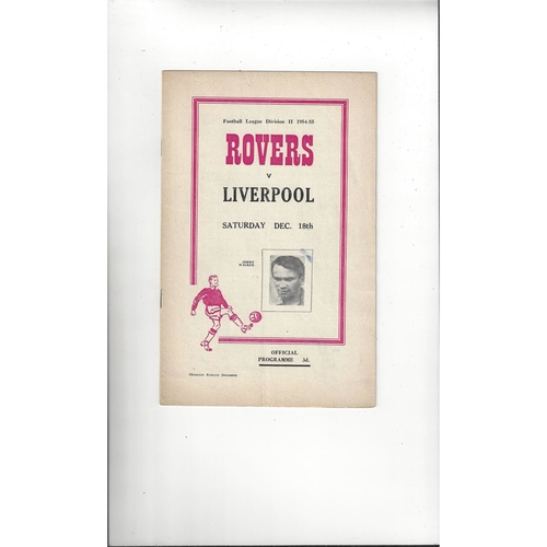 1954/55 Doncaster Rovers v Liverpool Football Programme